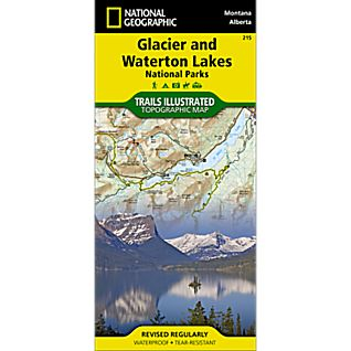 View 215 Glacier/Waterton Lakes National Parks Trail Map image