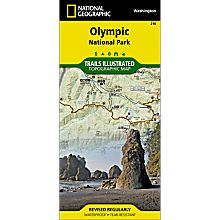 216 Olympic National Park Trail Map, 2001