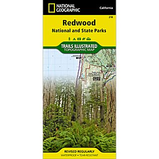 photo: National Geographic Redwood National Park Map us pacific states paper map