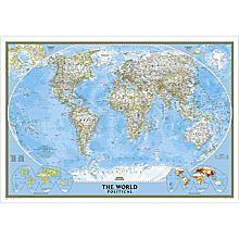 World Political Map (Classic), Enlarged, 2012
