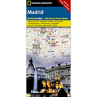 Madrid Destination City Map