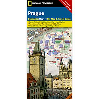 Prague Destination City Map
