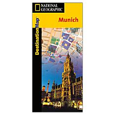 Munich Destination City Travel and Hiking Map