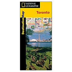Toronto Destination City Travel and Hiking Map