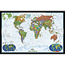 World Decorator Wall Map, Enlarged and Laminated