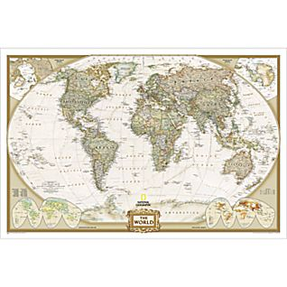 World Executive Wall Map, Enlarged