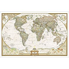 World Political Wall Map (Earth-Toned), Laminated
