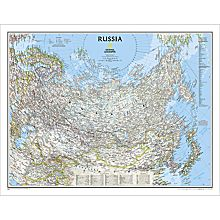 Russia Political Wall Map