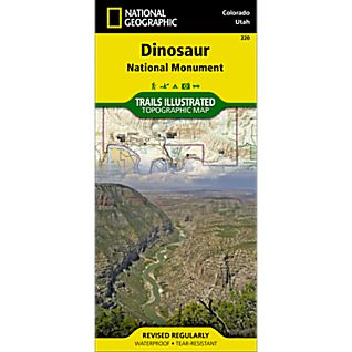 National Geographic Dinosaur National Monument Map