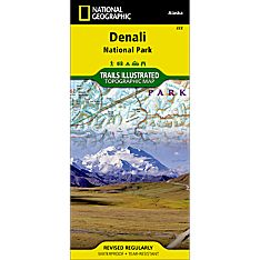 222 Denali National Park and Preserve Trail Map, 2007