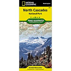 223 North Cascades National Park Trail Hiking Map
