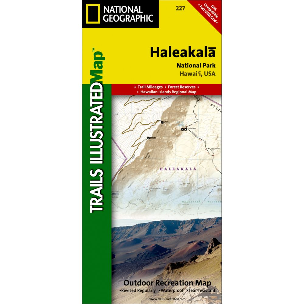 photo: National Geographic Haleakala National Park Map us pacific states paper map