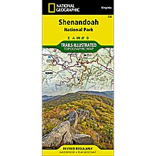 228 Shenandoah National Park Trail Hiking Map