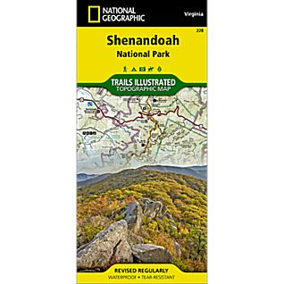 photo: National Geographic Shenandoah National Park Map