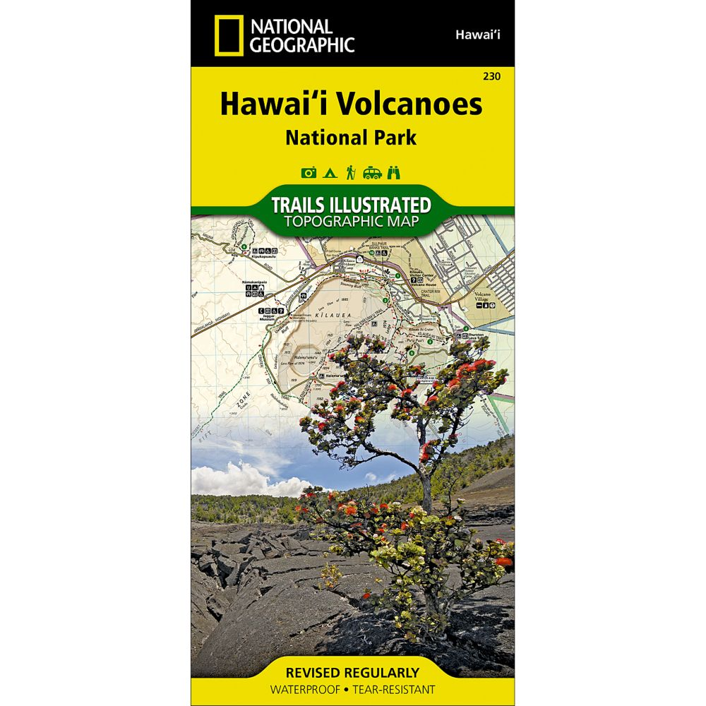 National Geographic Hawaii Volcanoes National Park Map