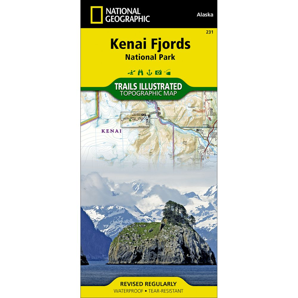 photo: National Geographic Kenai Fjords National Park us pacific states paper map