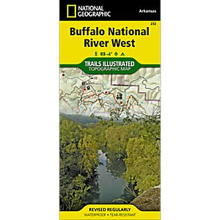 photo: National Geographic Buffalo National River - West Half us south paper map