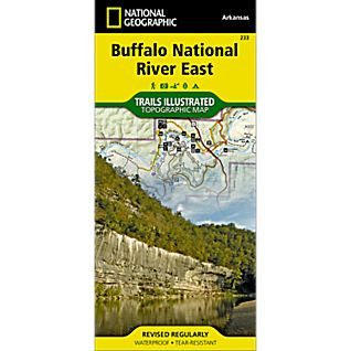 photo: National Geographic Buffalo National River - East Half us south paper map