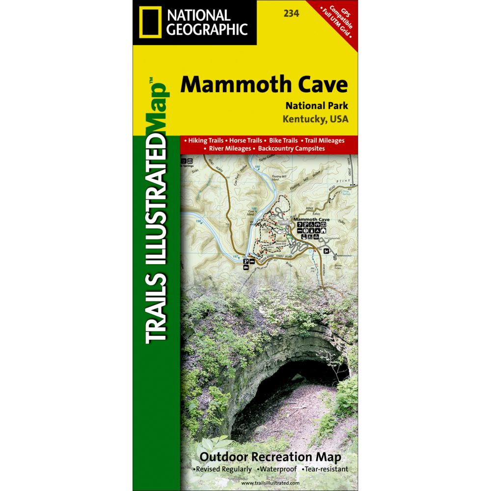 photo: National Geographic Mammoth Cave National Park Map us south paper map