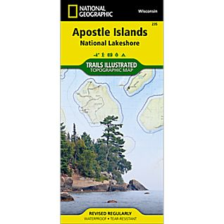 photo: National Geographic Apostle Islands National Lakeshore Trail Map