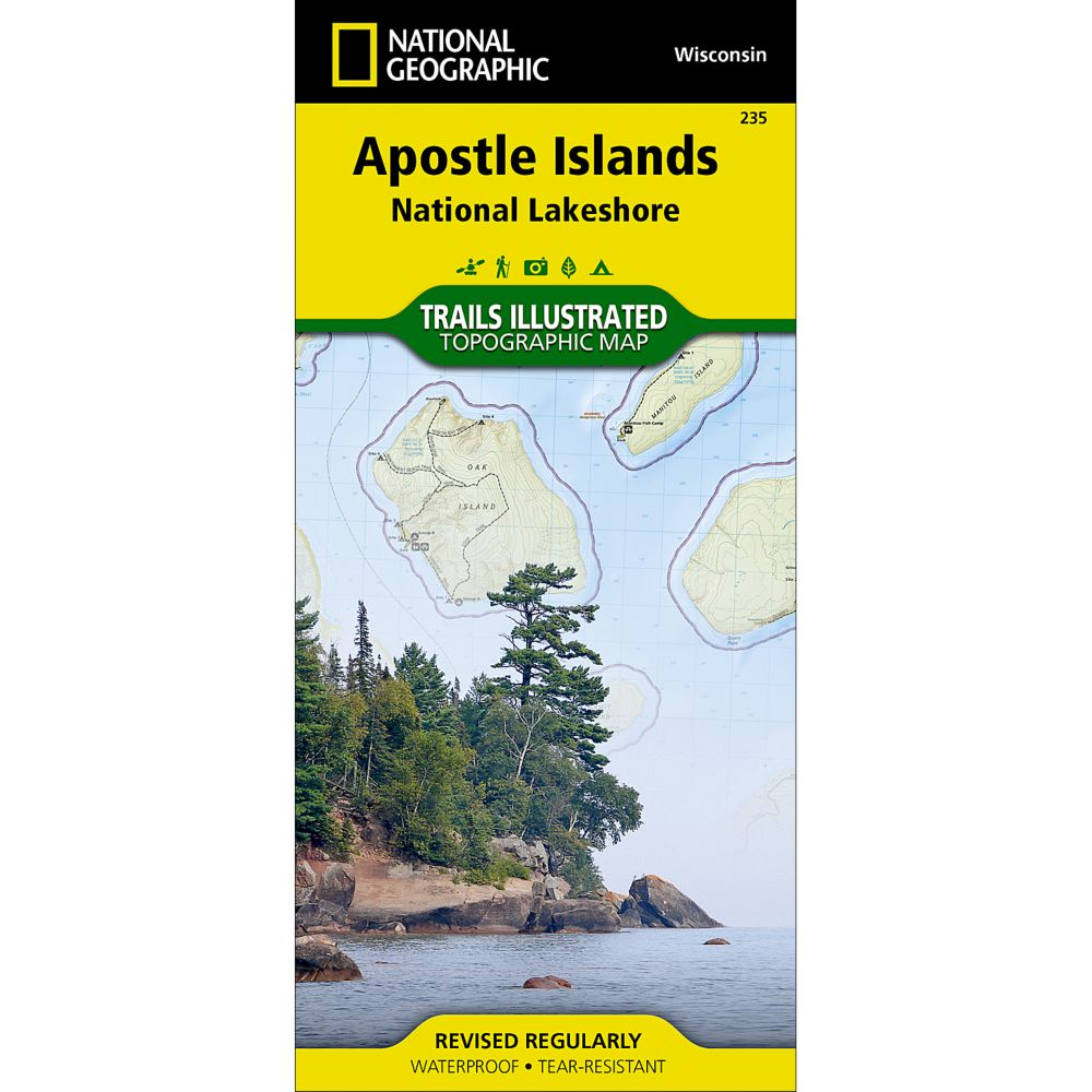 photo: National Geographic Apostle Islands National Lakeshore Trail Map  us midwest paper map