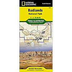 239 Badlands National Park Trail Map, 2007