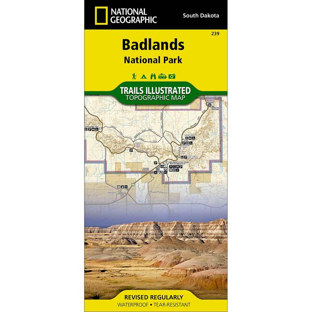 National Geographic Badlands National Park Map