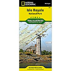 240 Isle Royale National Park Trail Map, 2006