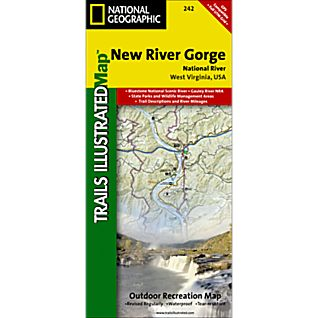 National Geographic New River Gorge National River Map