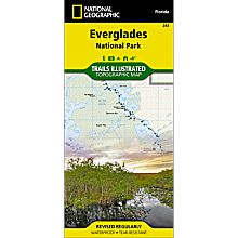 243 Everglades National Park Trail Map, 1999