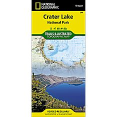 244 Crater Lake National Park Trail Hiking Map