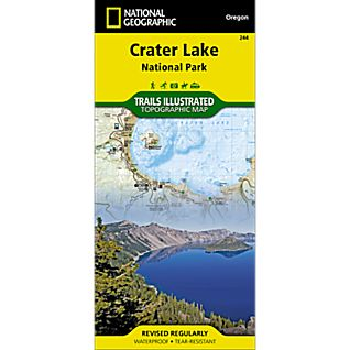 National Geographic Crater Lake National Park Map