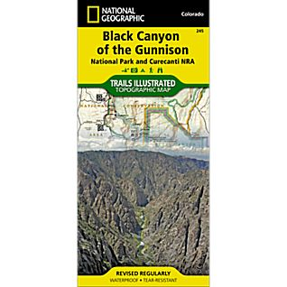 View 245 Black Canyon of the Gunnison Trail Map image
