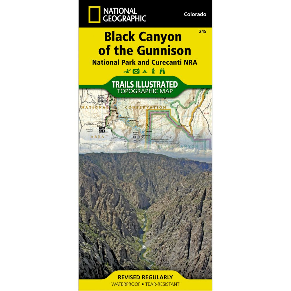 photo: National Geographic Black Canyon of the Gunnison Trail Map