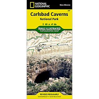 National Geographic Carlsbad Caverns National Park Map