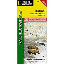 248 Katmai National Park and Preserve Trail Map, 2000