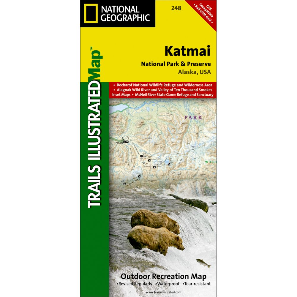 photo: National Geographic Katmai National Park and Preserve Map
