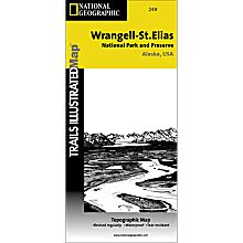 249 Wrangell - St. Elias National Park and Preserve Trail Map
