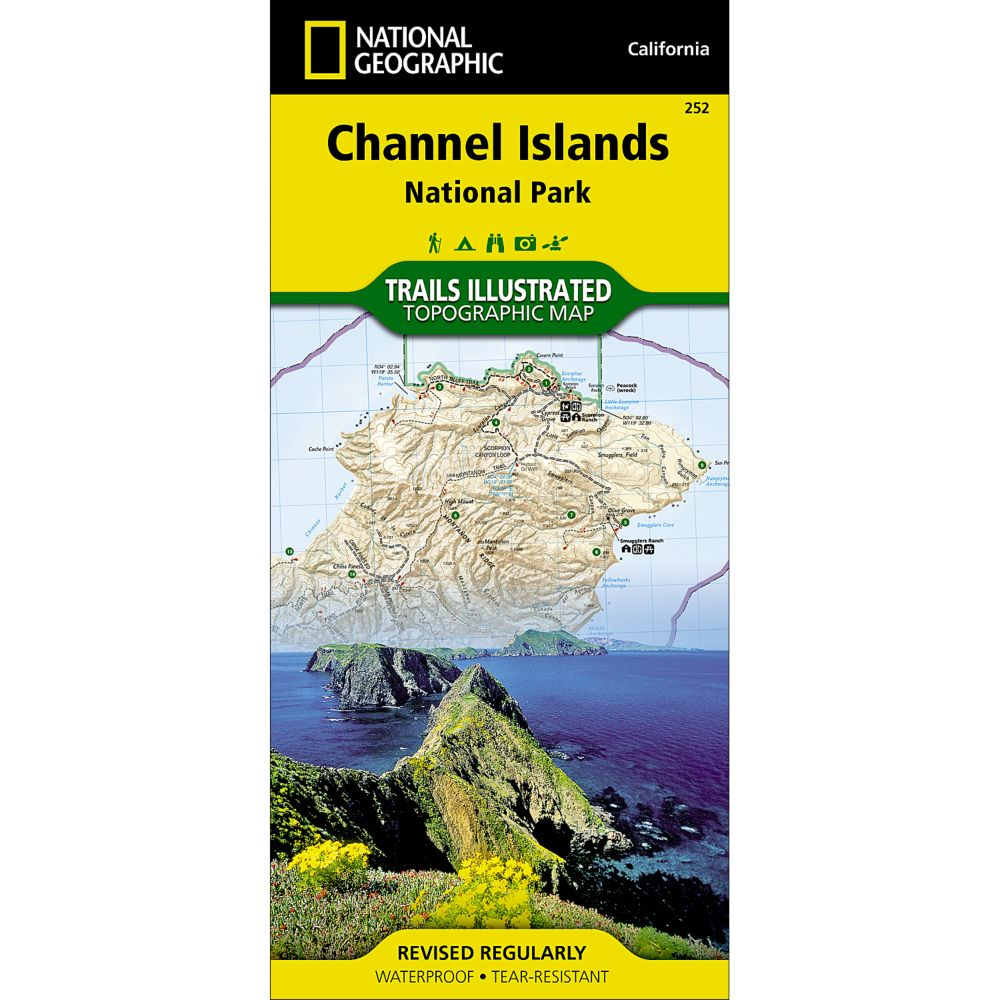 photo: National Geographic Channel Islands National Park Trail Map  us pacific states paper map