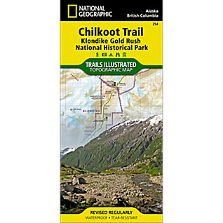 View 254 Chilkoot Trail/Klondike Gold Rush Trail Map image