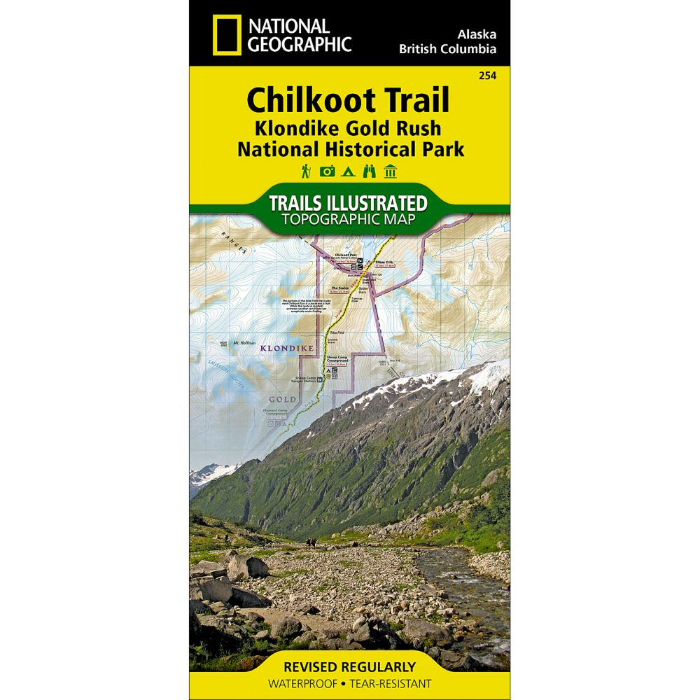 photo: National Geographic Chilkoot Trail/Klondike Gold Rush NHP Map us pacific states paper map