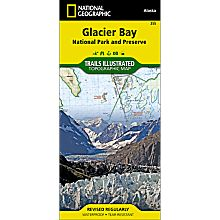 255 Glacier Bay National Park Trail Map, 1999