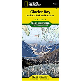 photo: National Geographic Glacier Bay National Park Trail Map  us pacific states paper map