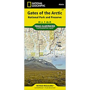 View 257 Gates of the Arctic National Park & Preserve Trail Map image