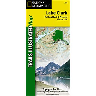 National Geographic Lake Clark National Park and Preserve Map