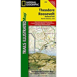 259 Theodore Roosevelt NP/ Maah Daah Hey Trail Map
