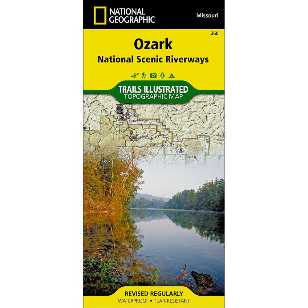 National Geographic Ozark National Scenic Riverways Map