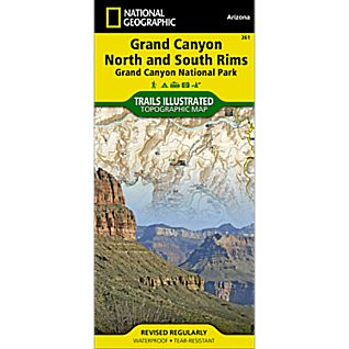 261 Grand Canyon: Bright Angel Canyon/North and South Rims Trail Map