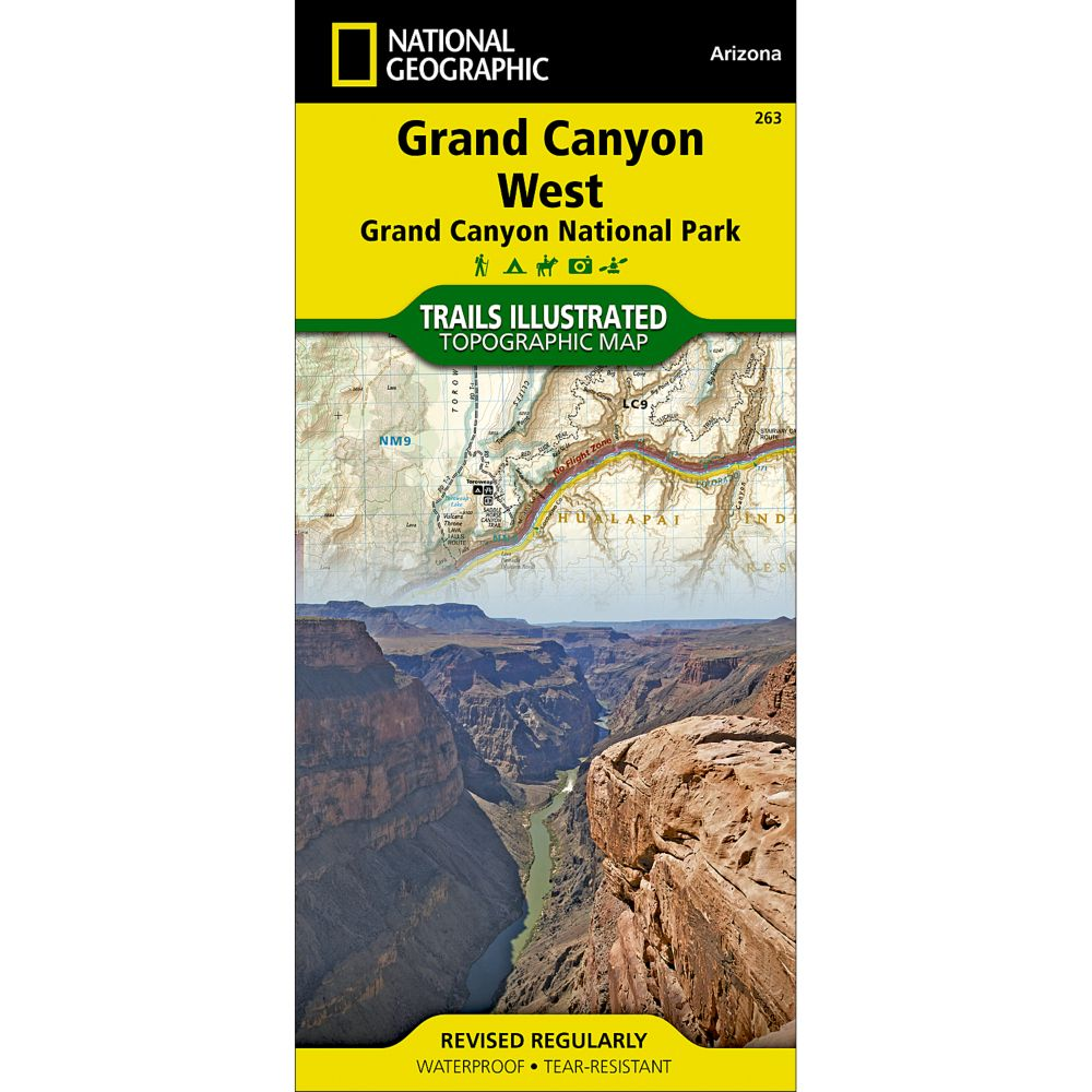 photo: National Geographic Grand Canyon West Trail Map us mountain states paper map