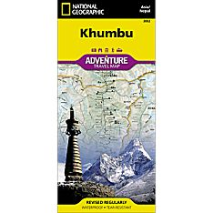 Khumbu, Nepal Adventure Travel and Hiking Map